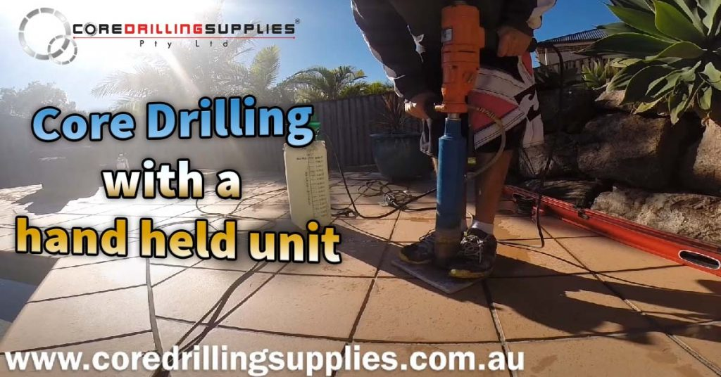 Core Drilling with a hand held unit